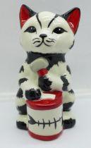 A Lorna Bailey Tucker (Tuna) the Cat, signed on the base, 13cm