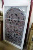 A Victorian stained glass church window