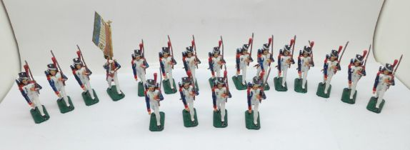 A collection of French metal marching guardsmen
