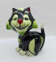 A Lorna Bailey 'Growler the Cat', 13cms, signed on the base