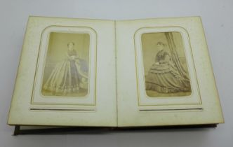 A Victorian carte de visite photograph album, (42)