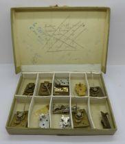 A collection of platform escapements