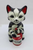 A Lorna Bailey 'Tucker (Tuna) the Cat?, 13cm, signed on the base