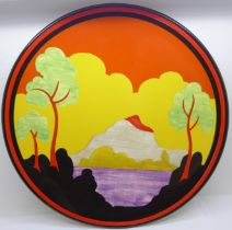 A Wedgwood Bradford Exchange Clarice Cliff Centenary Etna plate, limited edition, with