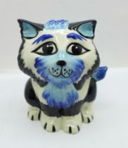 A Lorna Bailey ?Marvin the Cat, 10cms, (the only one produced with this colour combination),