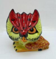 A Lorna Bailey 'Hootie the Owl', 10cm, signed on the base