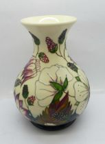 A Moorcroft Bramble Revisited vase by Alicia Amison, shape M1/6, 15cm