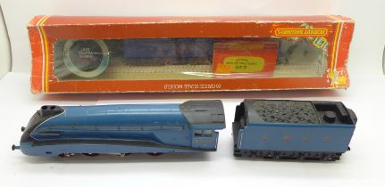 A Hornby Railways model LNER Class A4 'Seagull' locomotive and tender, R.372, box a/f