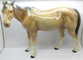 A large Melba Ware model of a horse, 30cm