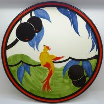 A Wedgwood Bradford Exchange Clarice Cliff Centenary Bird of Paradise plate, limited edition, with