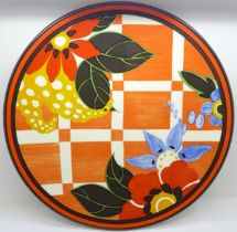 A Wedgwood Bradford Exchange Clarice Cliff Centenary Blossom Applique Bizarre plate, limited