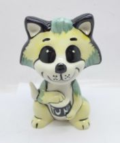 A Lorna Bailey 'Tuna the Cat', 13cm, signed on the base