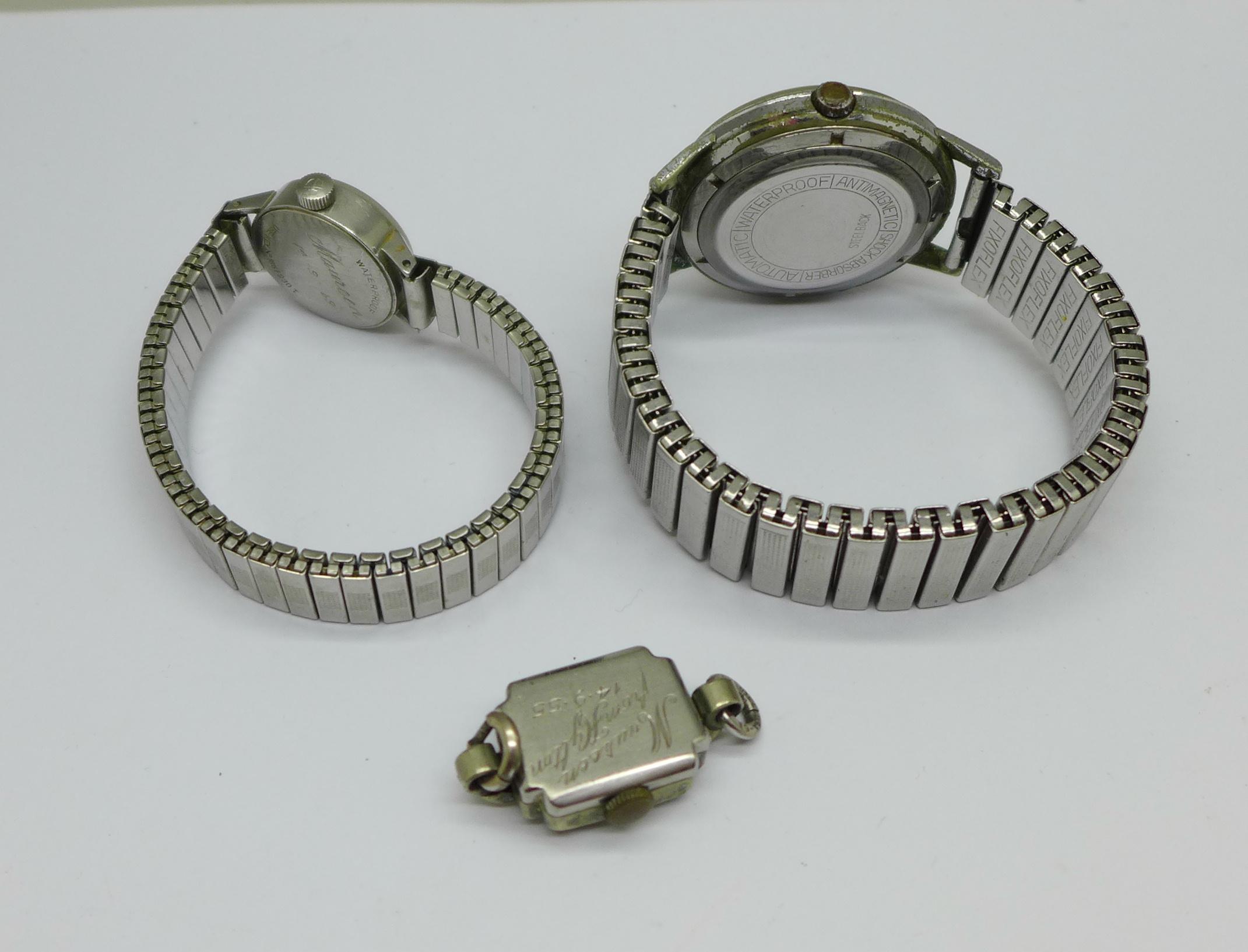 A lady's Tissot Seastar wristwatch and a Tosca 30 jewel wristwatch - Image 5 of 8