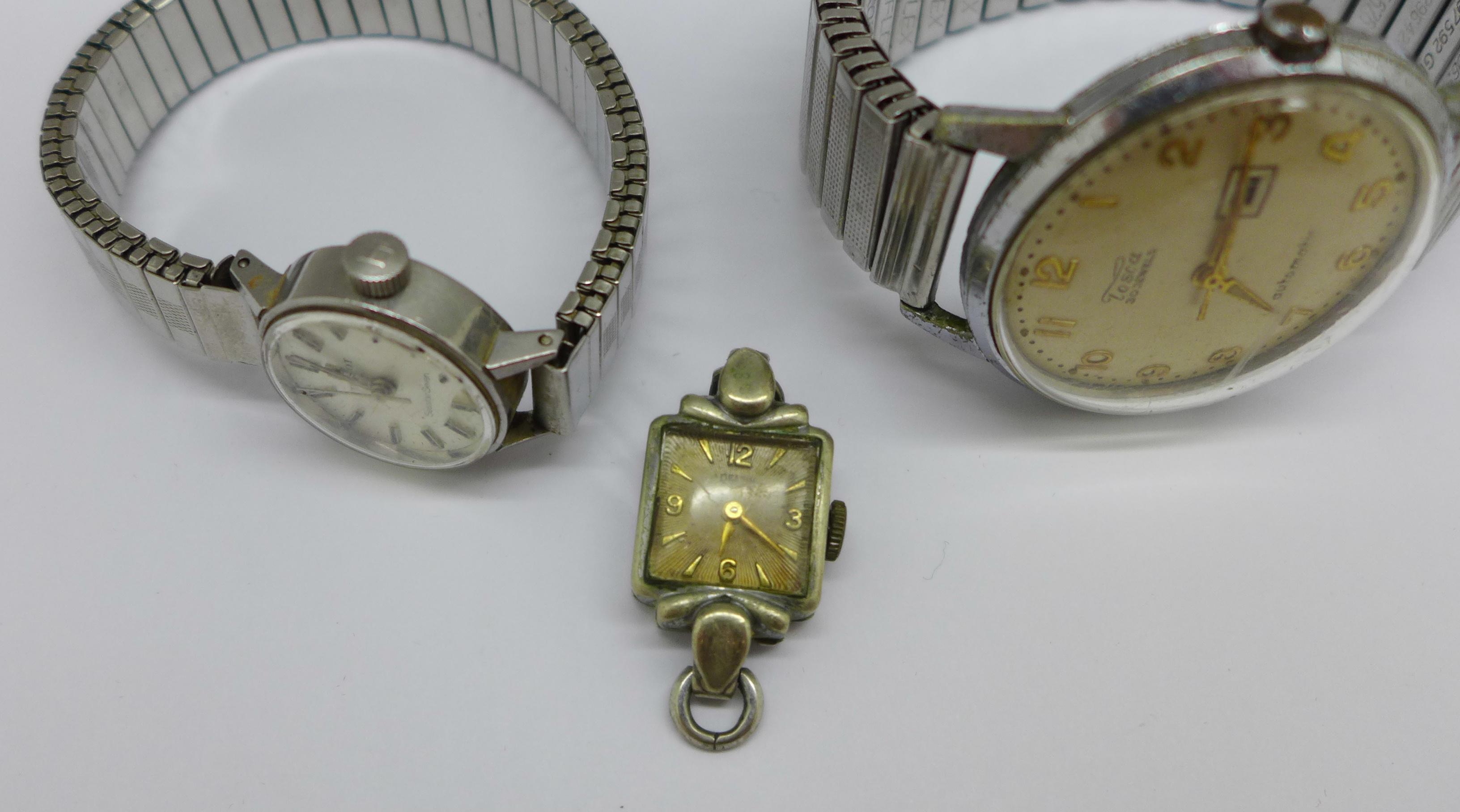 A lady's Tissot Seastar wristwatch and a Tosca 30 jewel wristwatch - Image 4 of 8