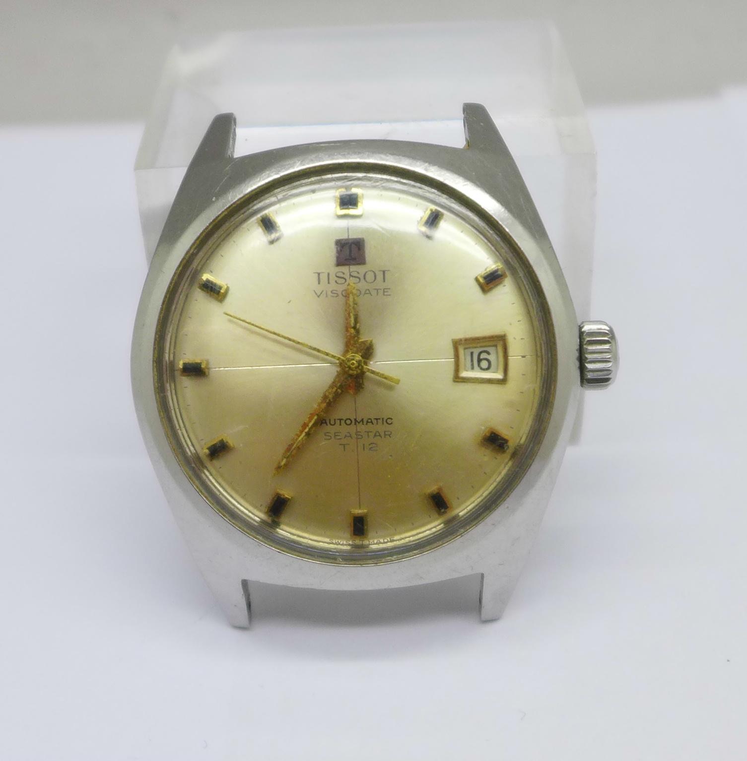 A Tissot Visodate Seastear T12 automatic wristwatch