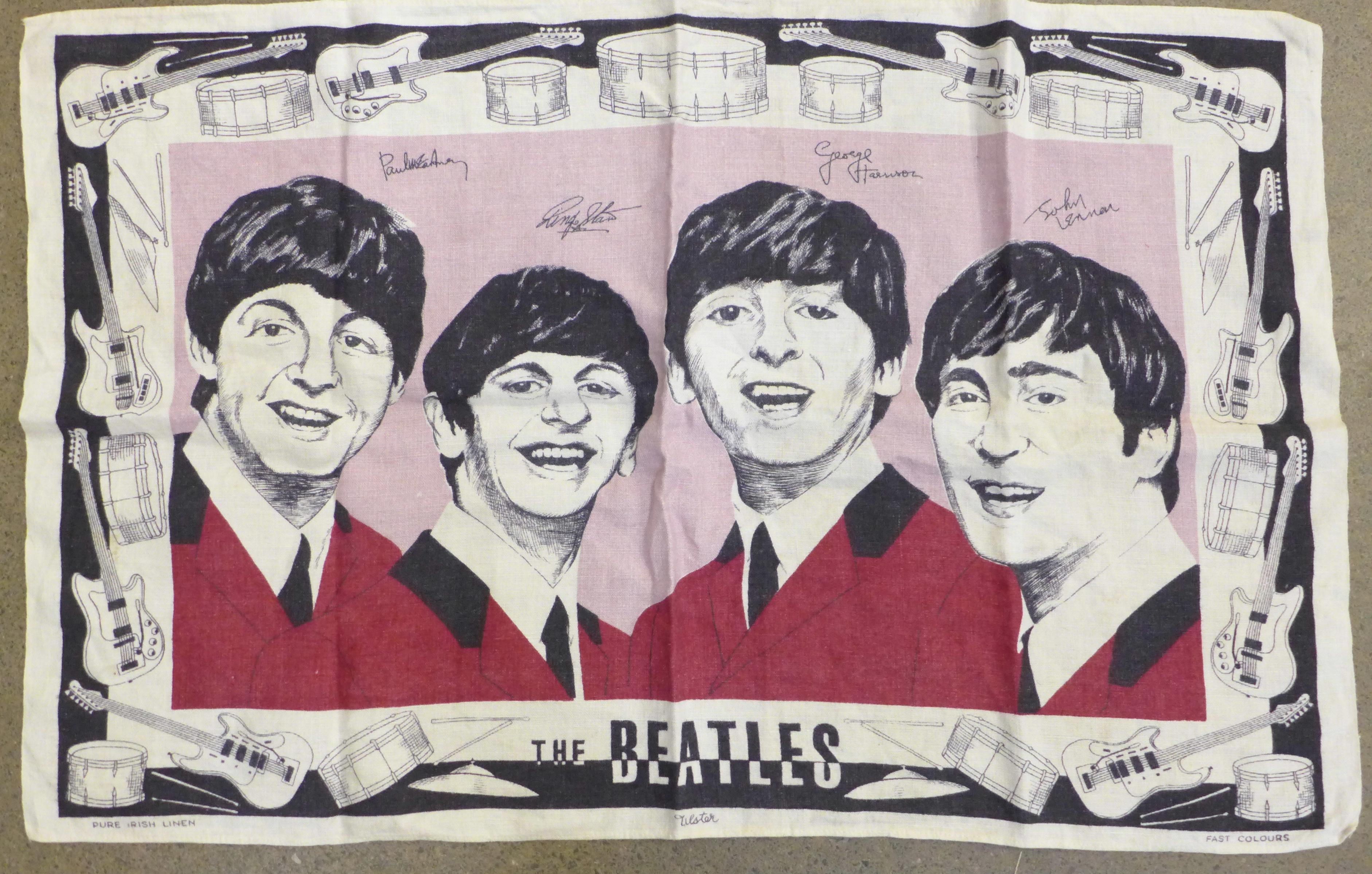 A Beatles tea towel