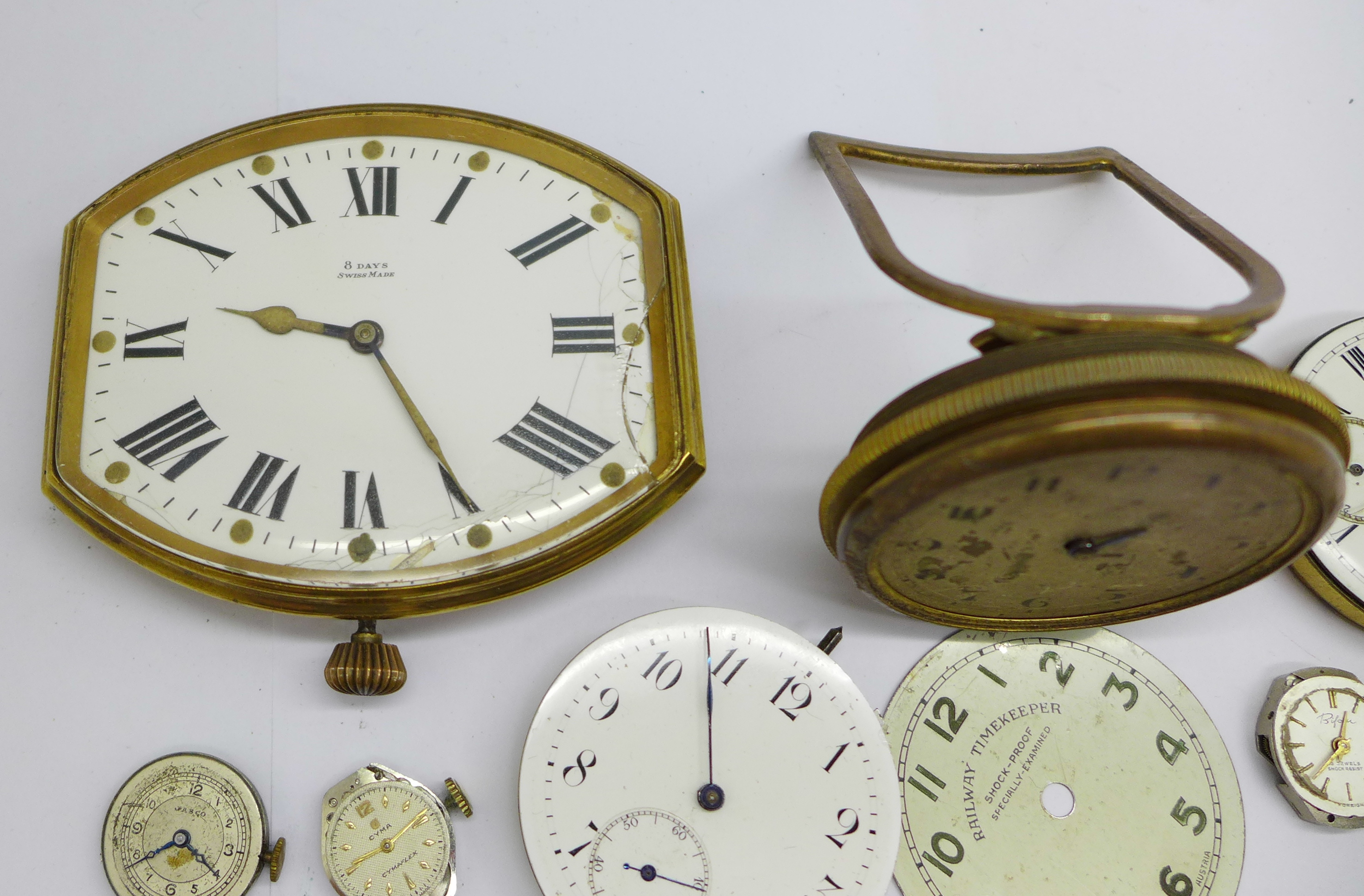 A clock movement, pocket watch movements and wristwatch movements - Image 2 of 6