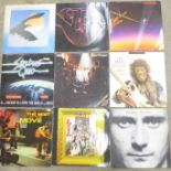 Twenty LP records, (James Taylor album sleeve only)
