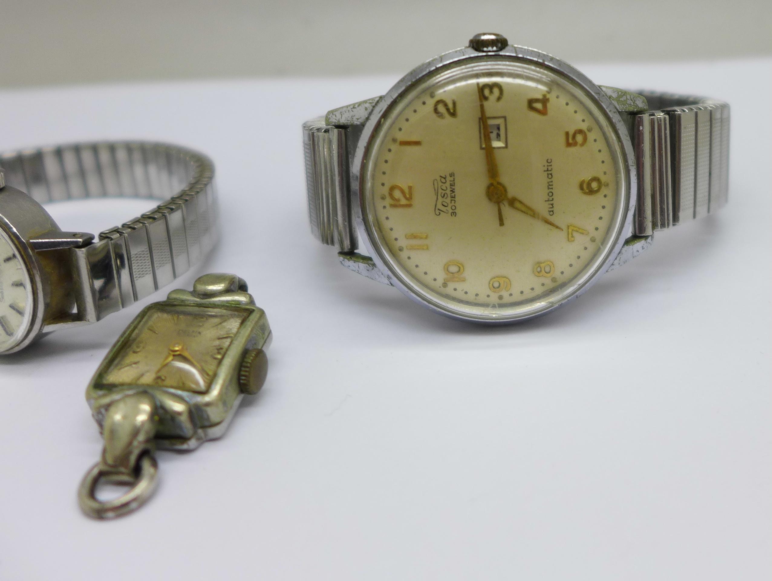 A lady's Tissot Seastar wristwatch and a Tosca 30 jewel wristwatch - Image 2 of 8
