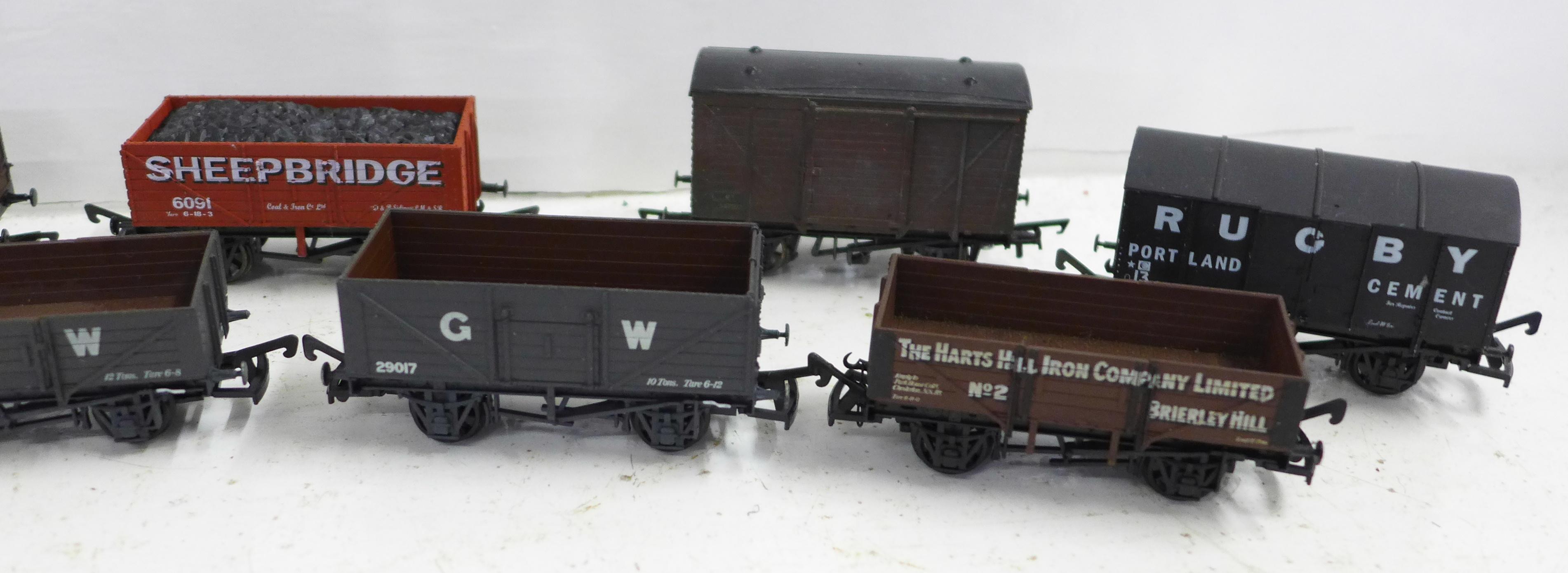 Ten OO gauge model railway wagons including Airfix and Dapol - Image 3 of 3