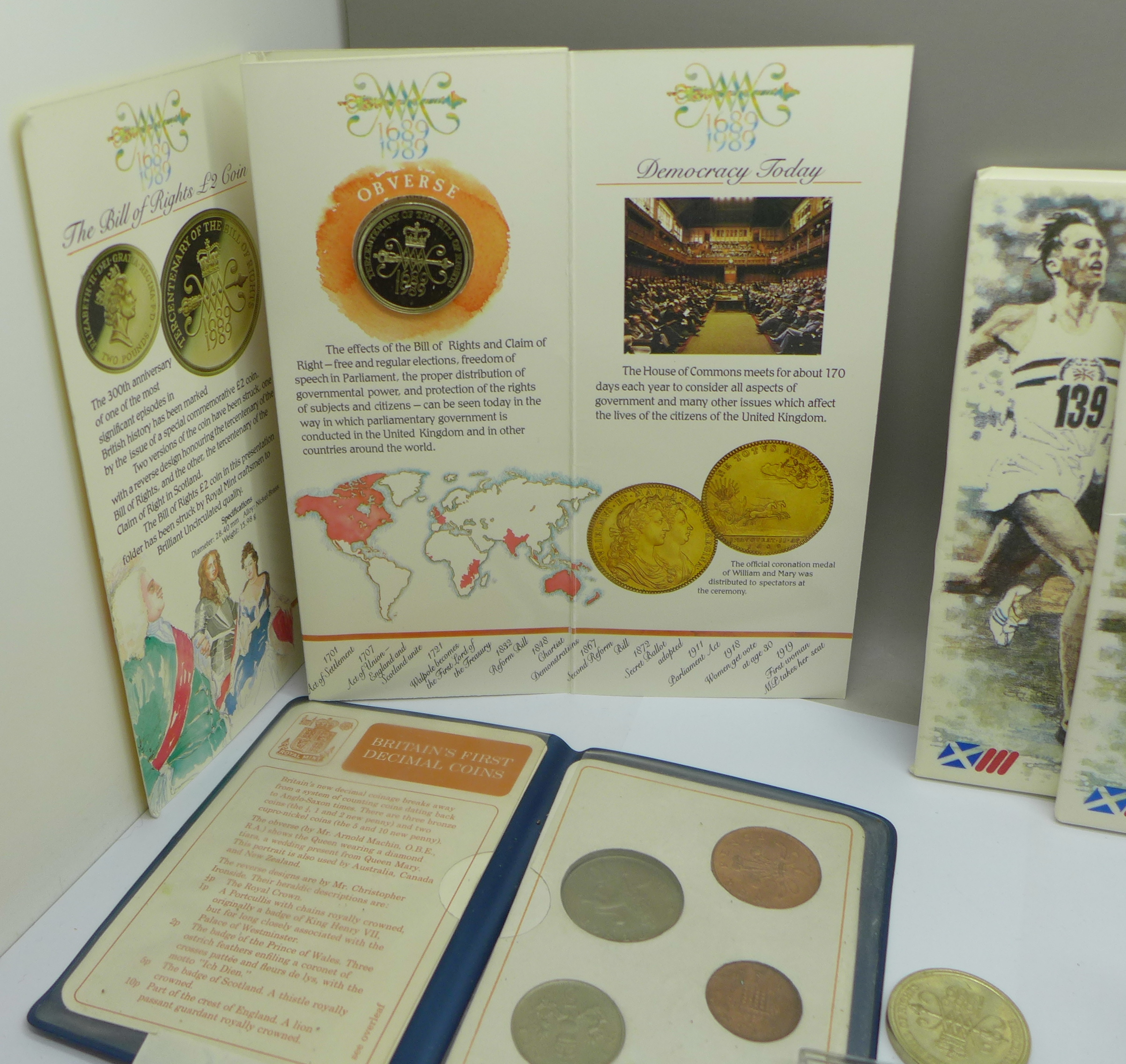 Four £2 commemorative coins from the 1986 Commonwealth Games, a collection of other commemorative - Image 3 of 5