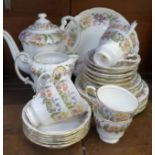 A Paragon Country Lane tea service, six setting, thirty-three pieces in total (no sugar)