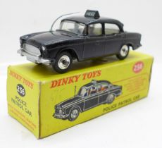 A Dinky Toys No. 256 Police Patrol Car, boxed