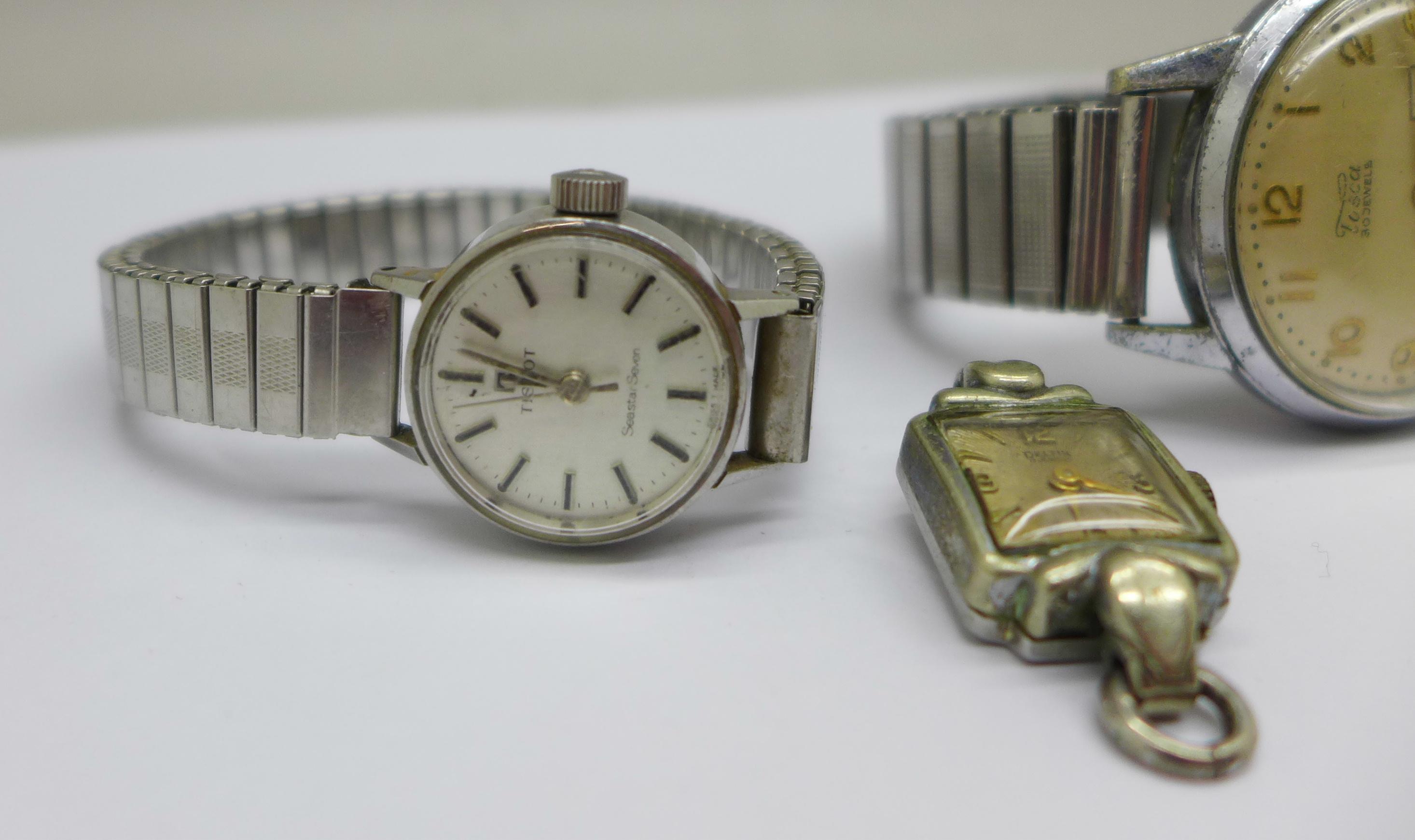 A lady's Tissot Seastar wristwatch and a Tosca 30 jewel wristwatch - Image 3 of 8