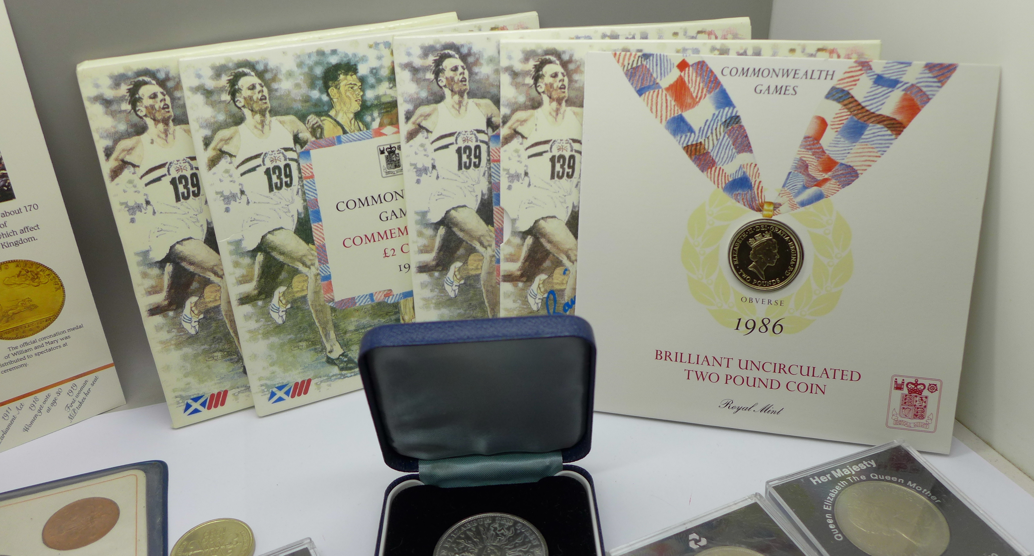 Four £2 commemorative coins from the 1986 Commonwealth Games, a collection of other commemorative - Image 2 of 5