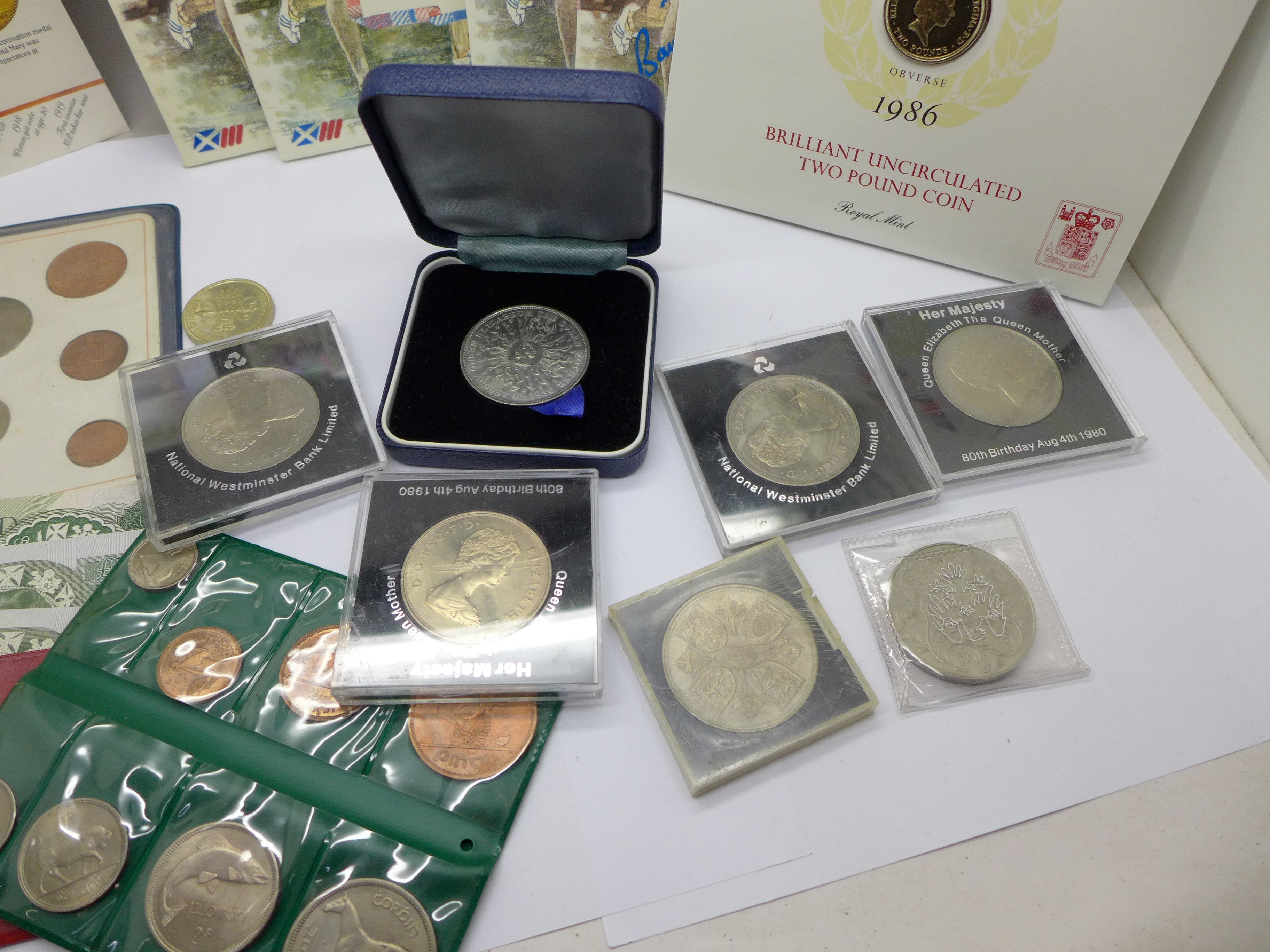 Four £2 commemorative coins from the 1986 Commonwealth Games, a collection of other commemorative - Image 5 of 5