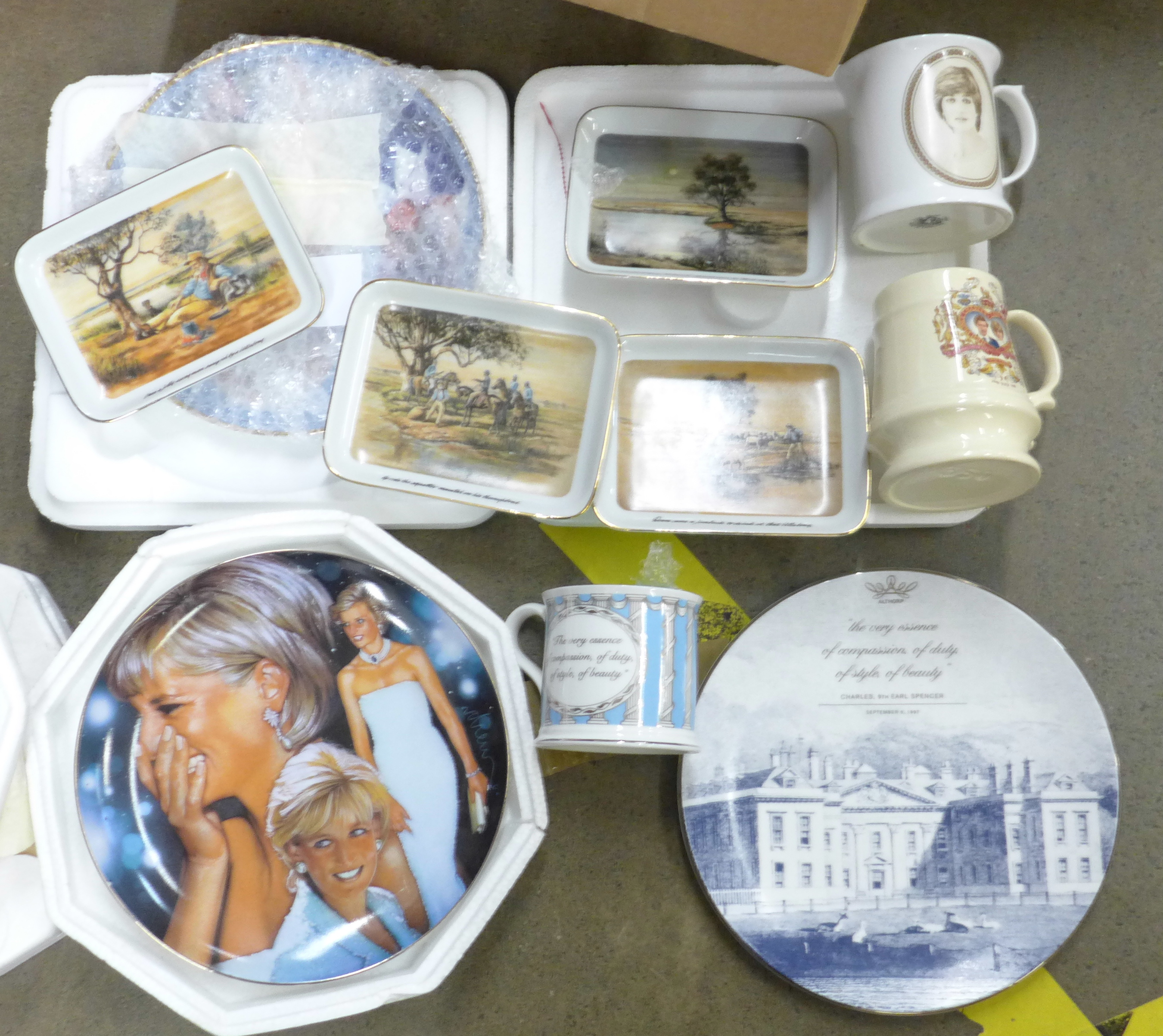 A collection of commemorative china mainly Royal Family, Princess Diana and four Waltzing Matilda - Image 2 of 3