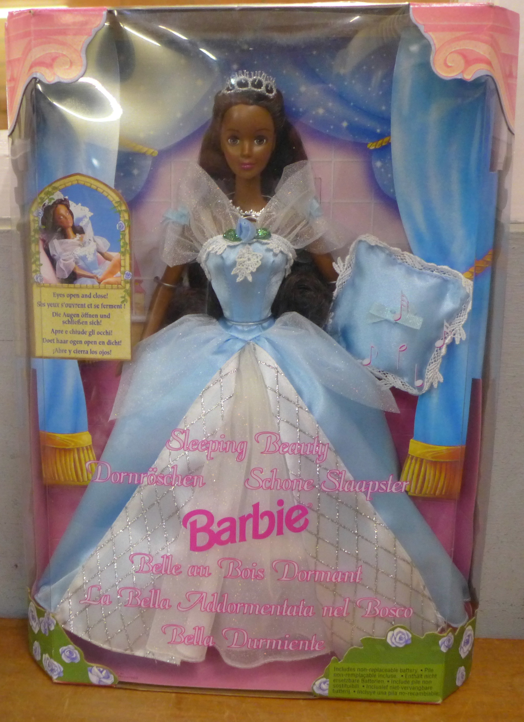 A Barbie doll, Black Sleeping Beauty, complete with box, 1998