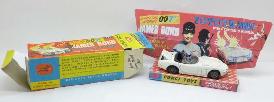 A Corgi Toys No. 366, James Bond Toyota 2000GT, boxed, with reproduction inner