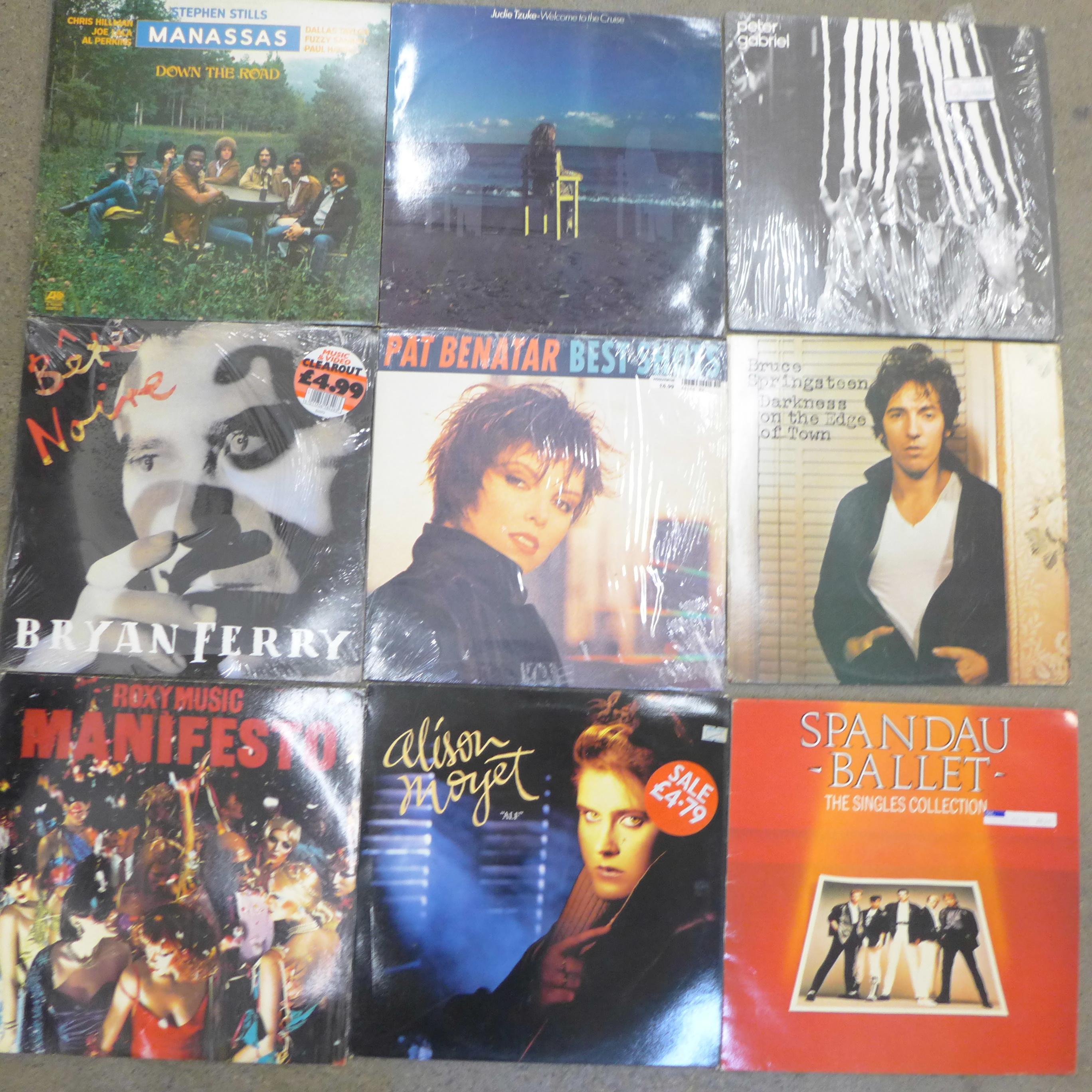 Fourteen 1980's LP records