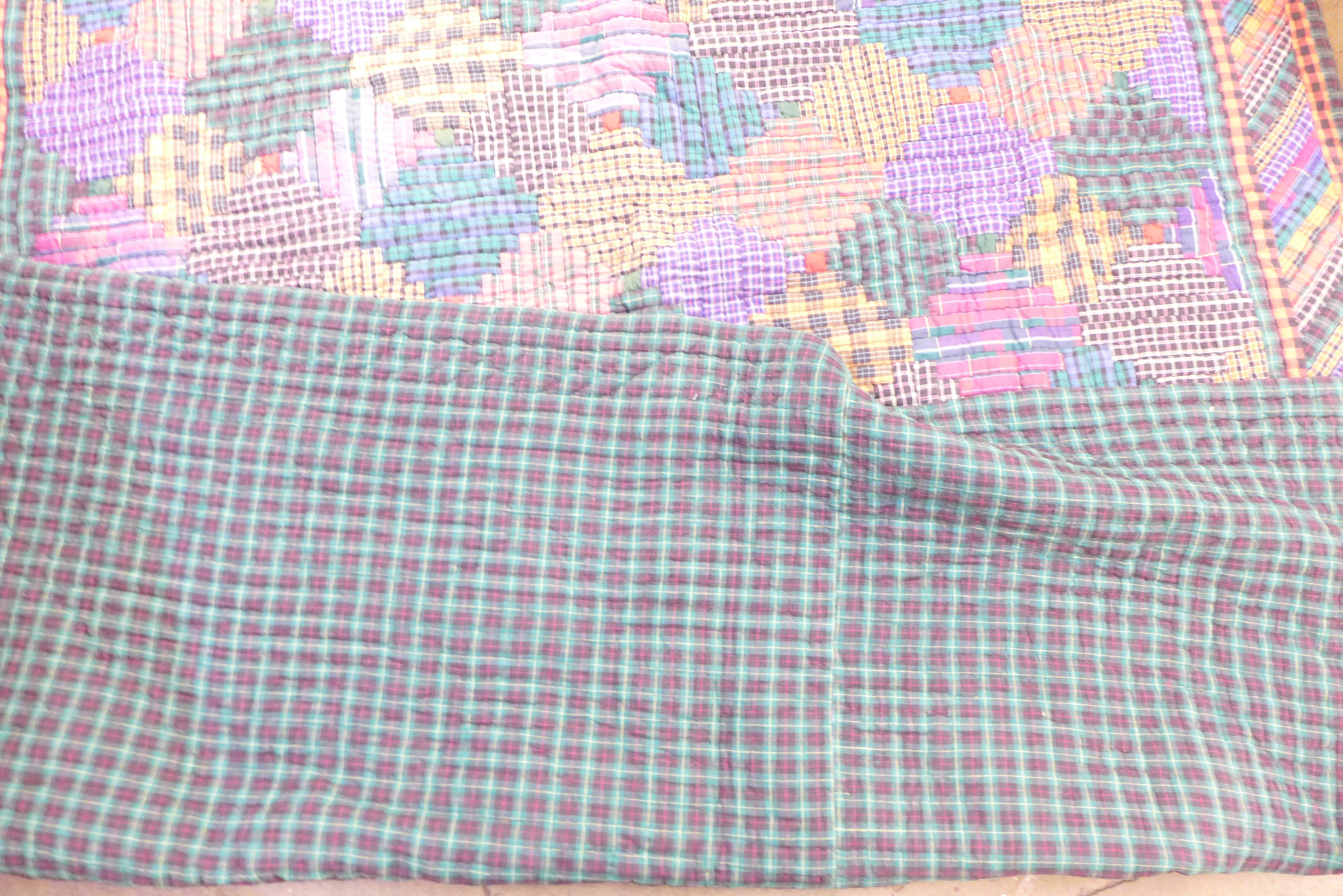 A vintage 1970's/80's quilt, Nimble Fingers 100% cotton, double to kingsize - Image 3 of 4