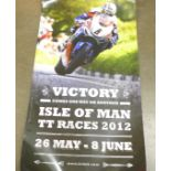 Approximately 40 superbike and motorbike posters, twenty-five signed