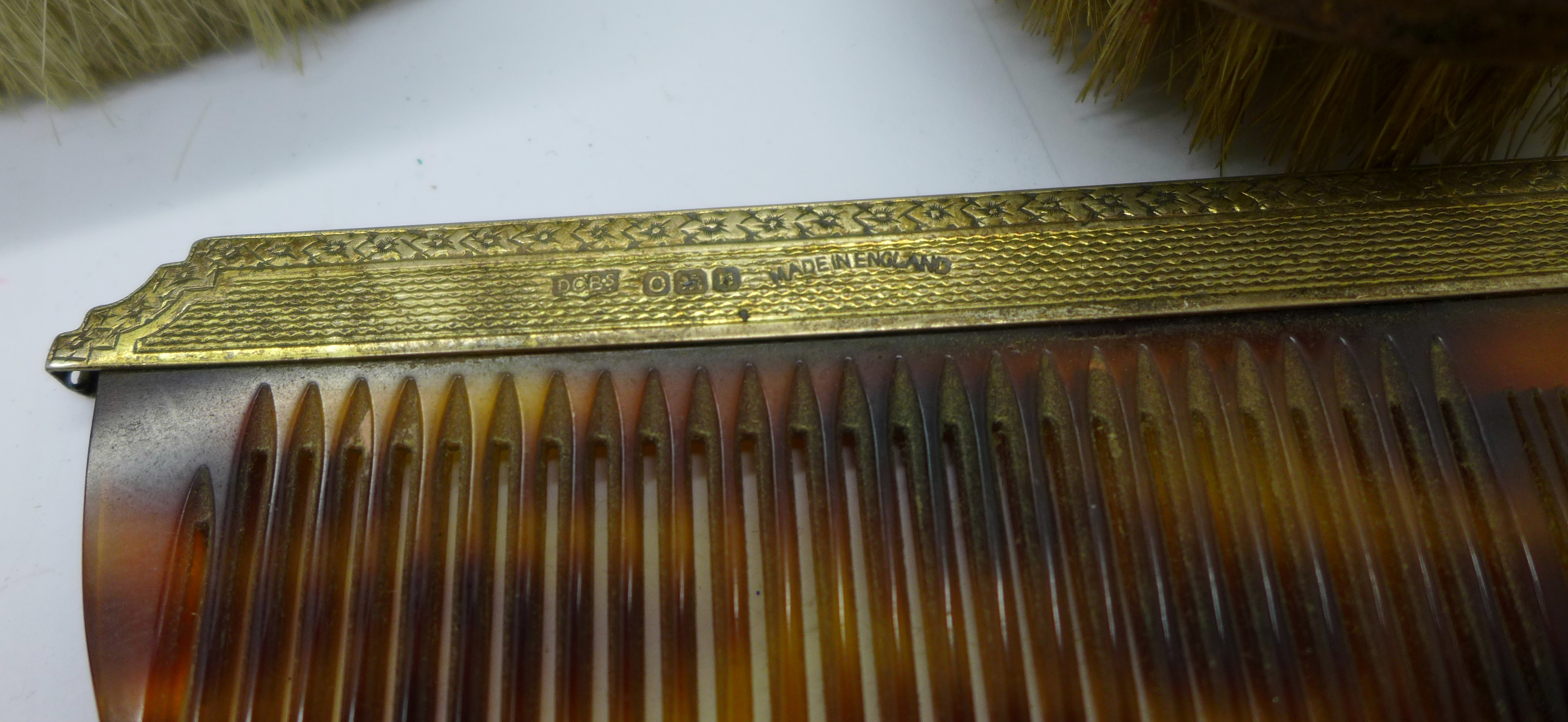 Silver brushes (two cased), comb and a hand mirror - Image 8 of 9