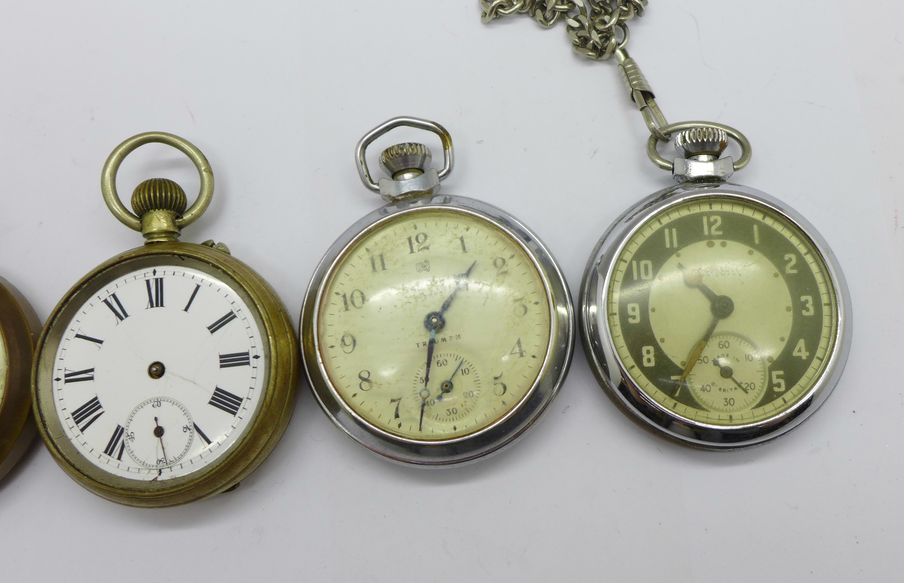 Five pocket watches - Image 3 of 4