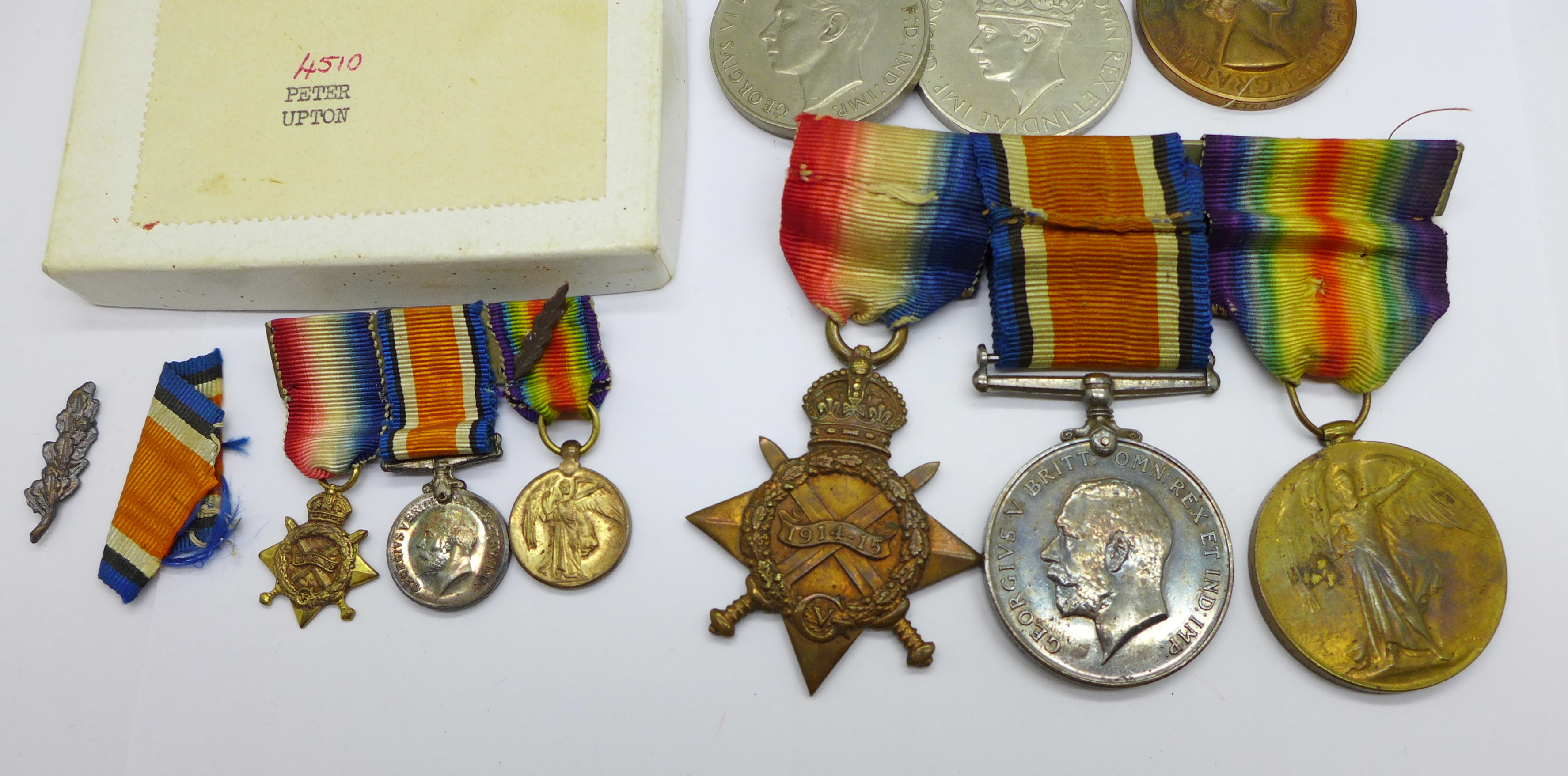 A family group of medals, three WWII medals including Special Constable, a trio of WWI medals to - Image 2 of 6