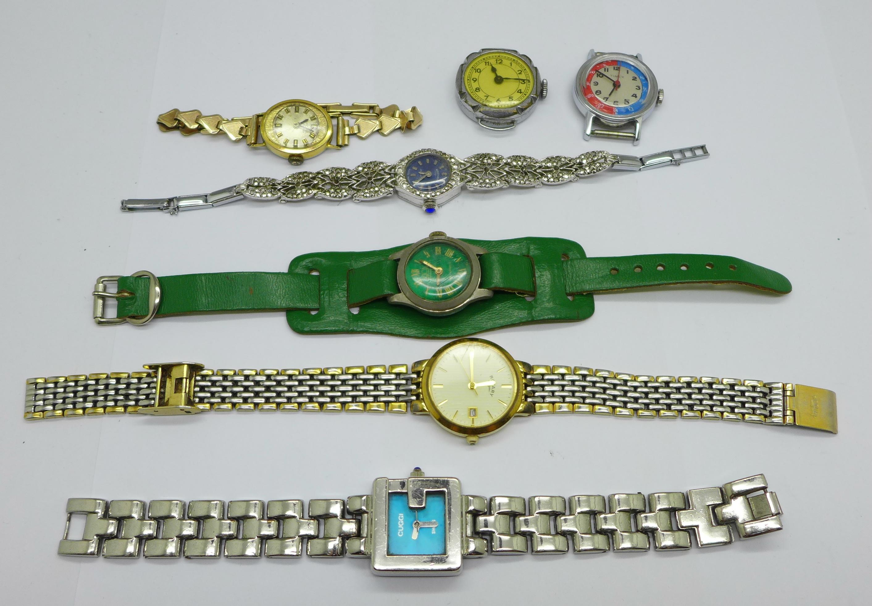 Six lady's wristwatches