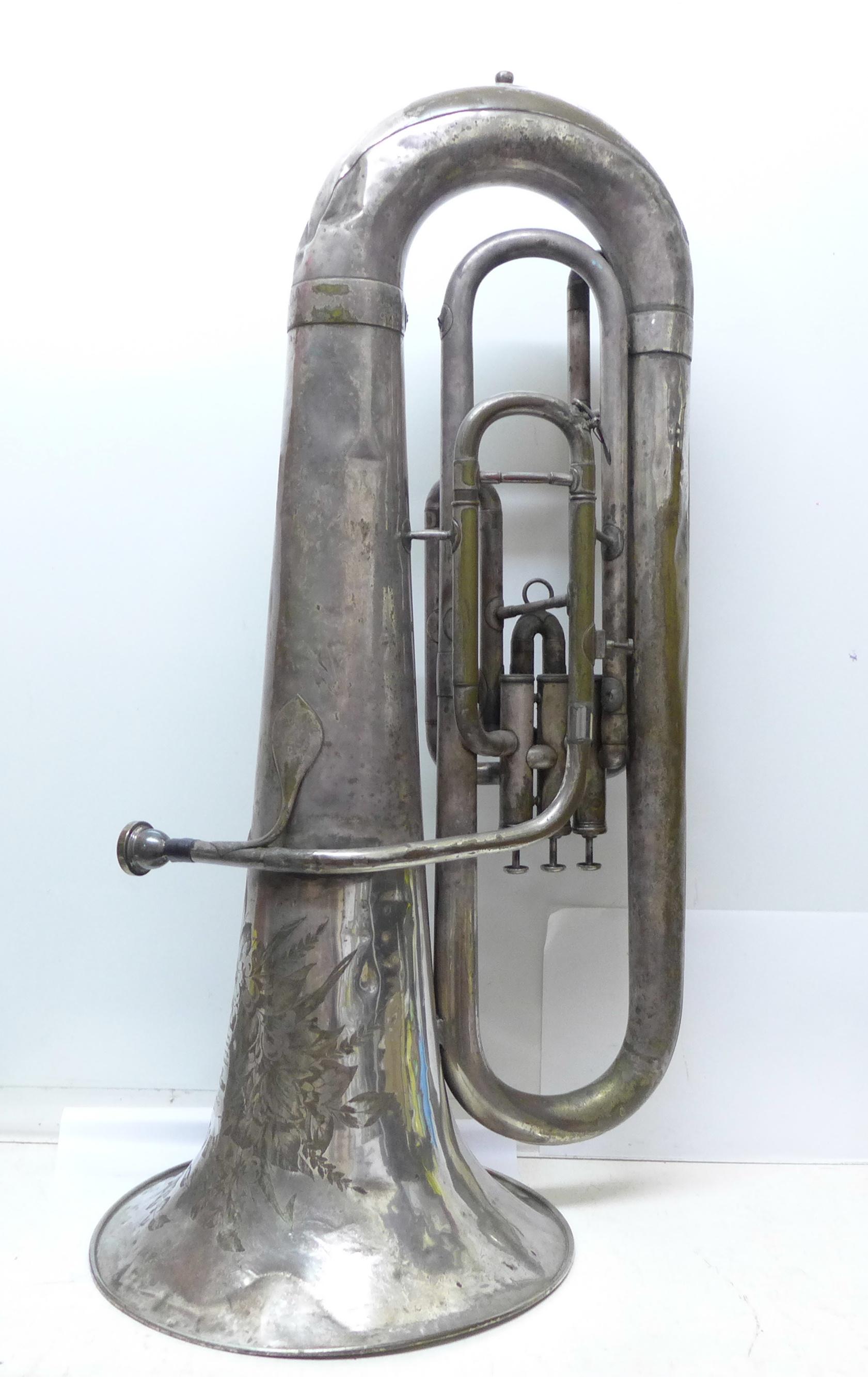 A Besson b-flat tuba