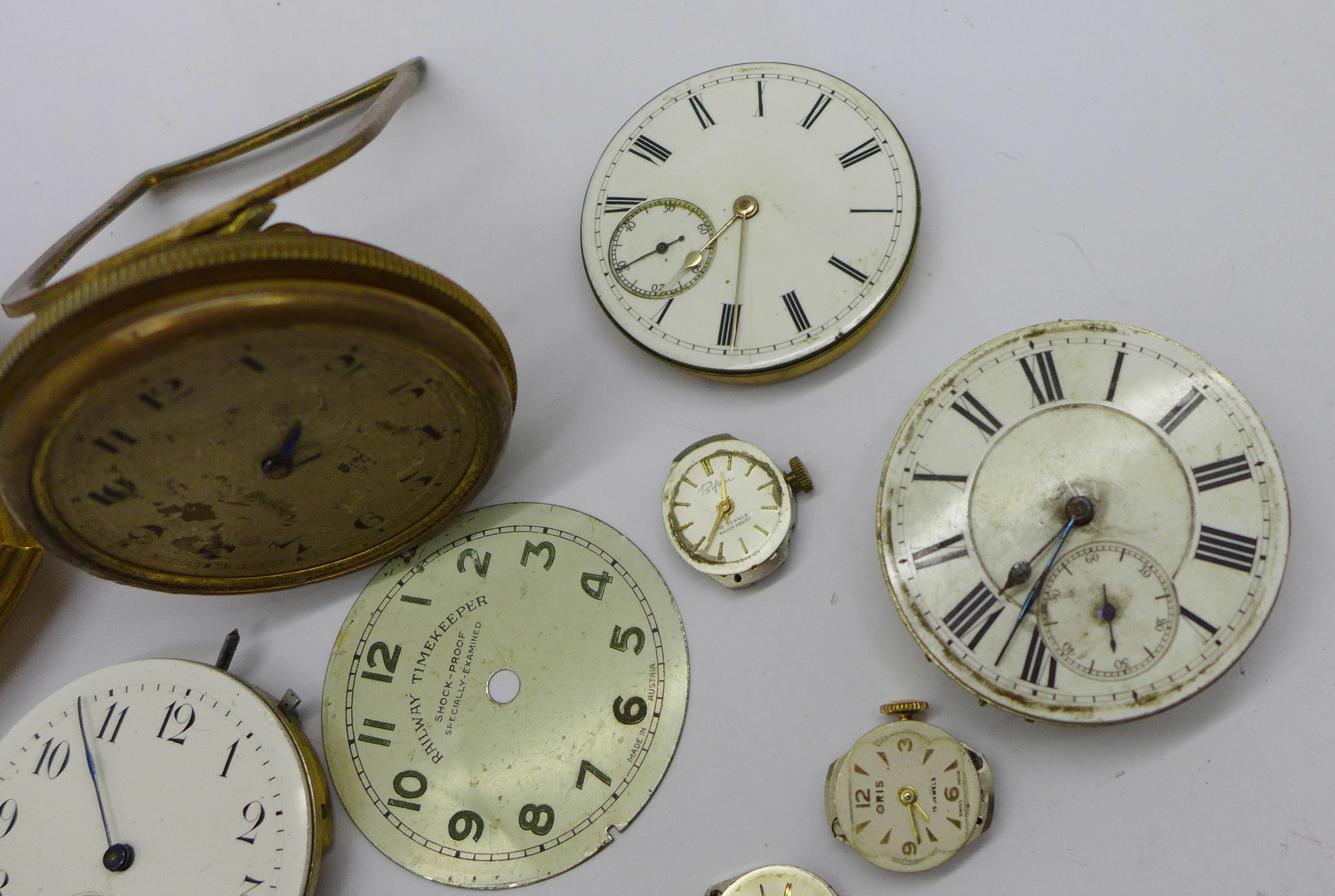 A clock movement, pocket watch movements and wristwatch movements - Image 5 of 6