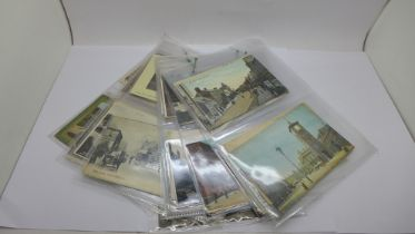 Fifty-eight early to mid 20th Century postcards