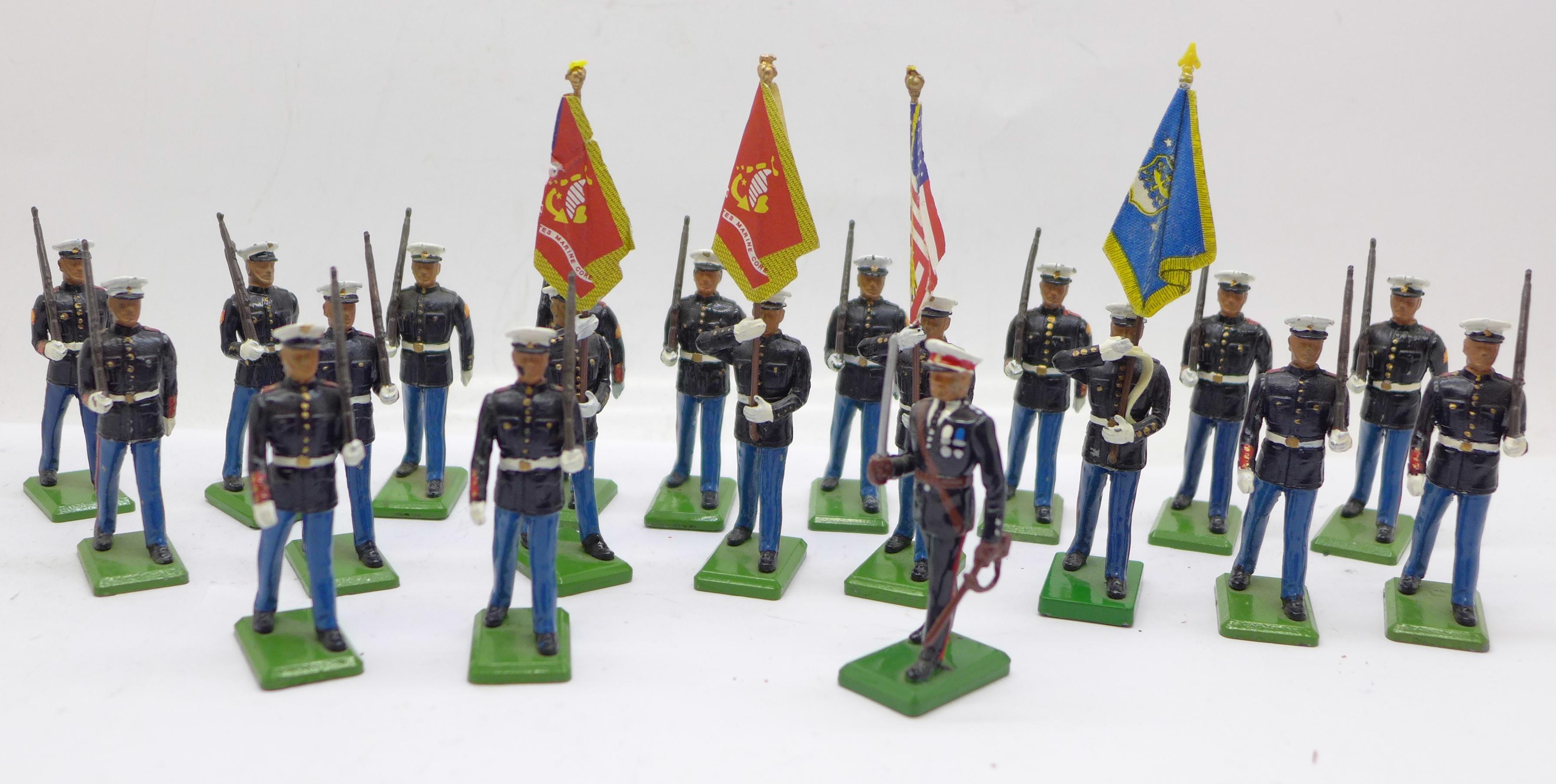 Twenty 1986 Britains Toys marching U.S. Marine figures