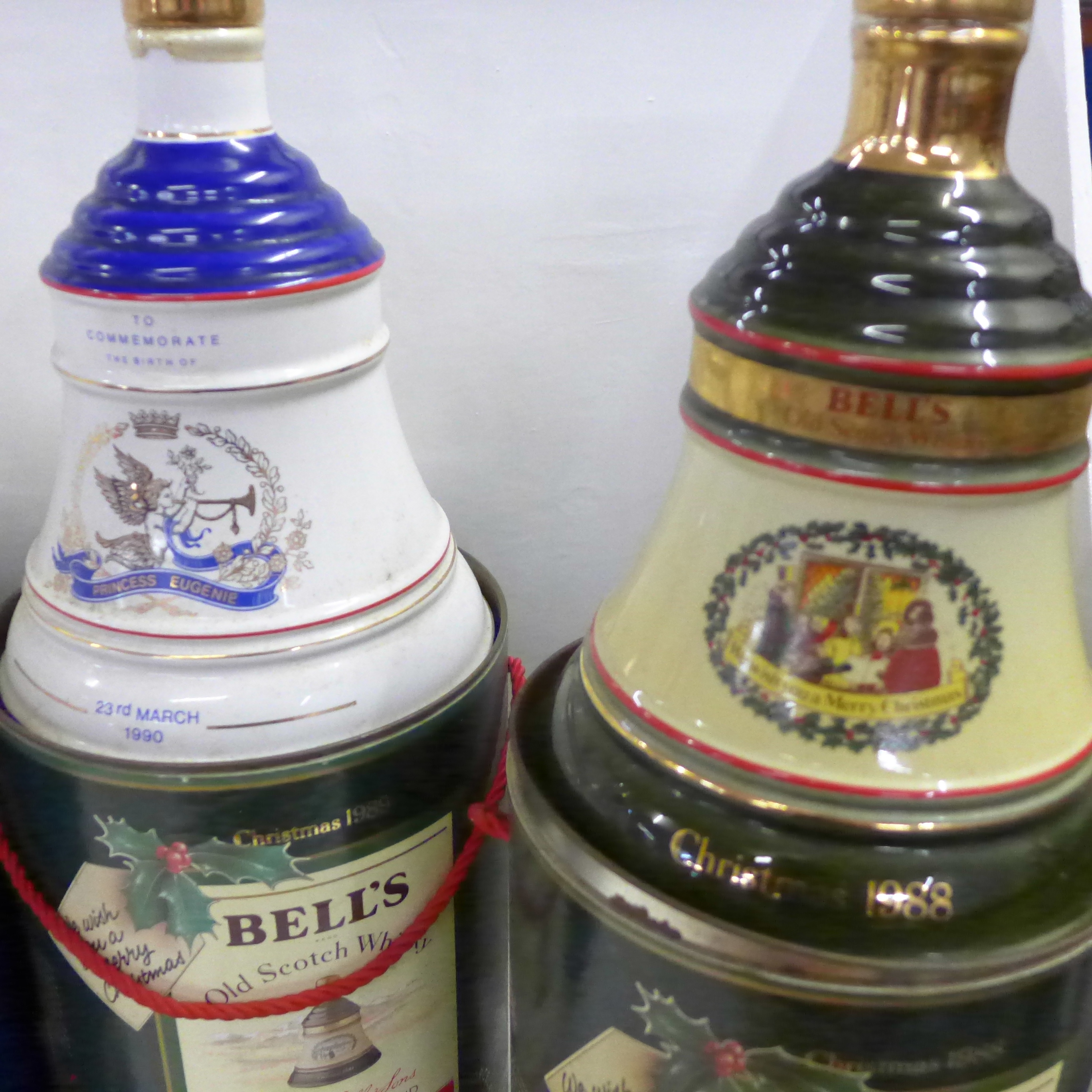 Five Bell's Old Scotch Whisky decanters in containers; three Extra Special - Image 3 of 3