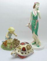 A Royal Worcester figure, Woodland Dance, a Royal Doulton Pretty Ladies figure, Julia and a Royal
