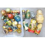 A collection of Russian dolls **PLEASE NOTE THIS LOT IS NOT ELIGIBLE FOR POSTING AND PACKING**