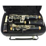 A Jupiter clarinet marked JCL-631-1, cased