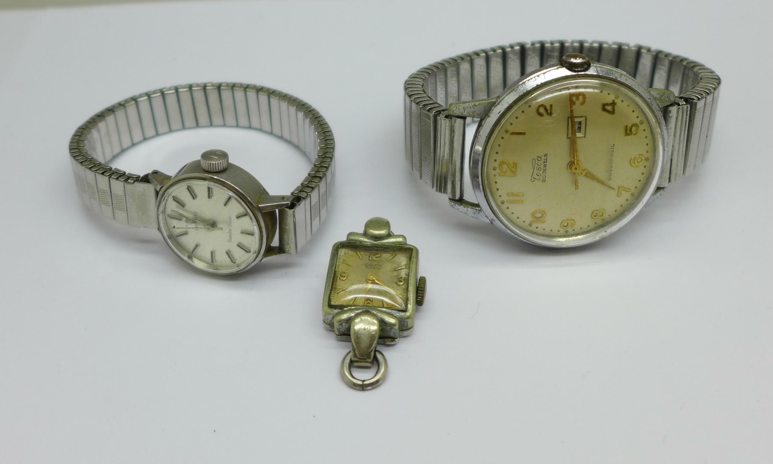 A lady's Tissot Seastar wristwatch and a Tosca 30 jewel wristwatch