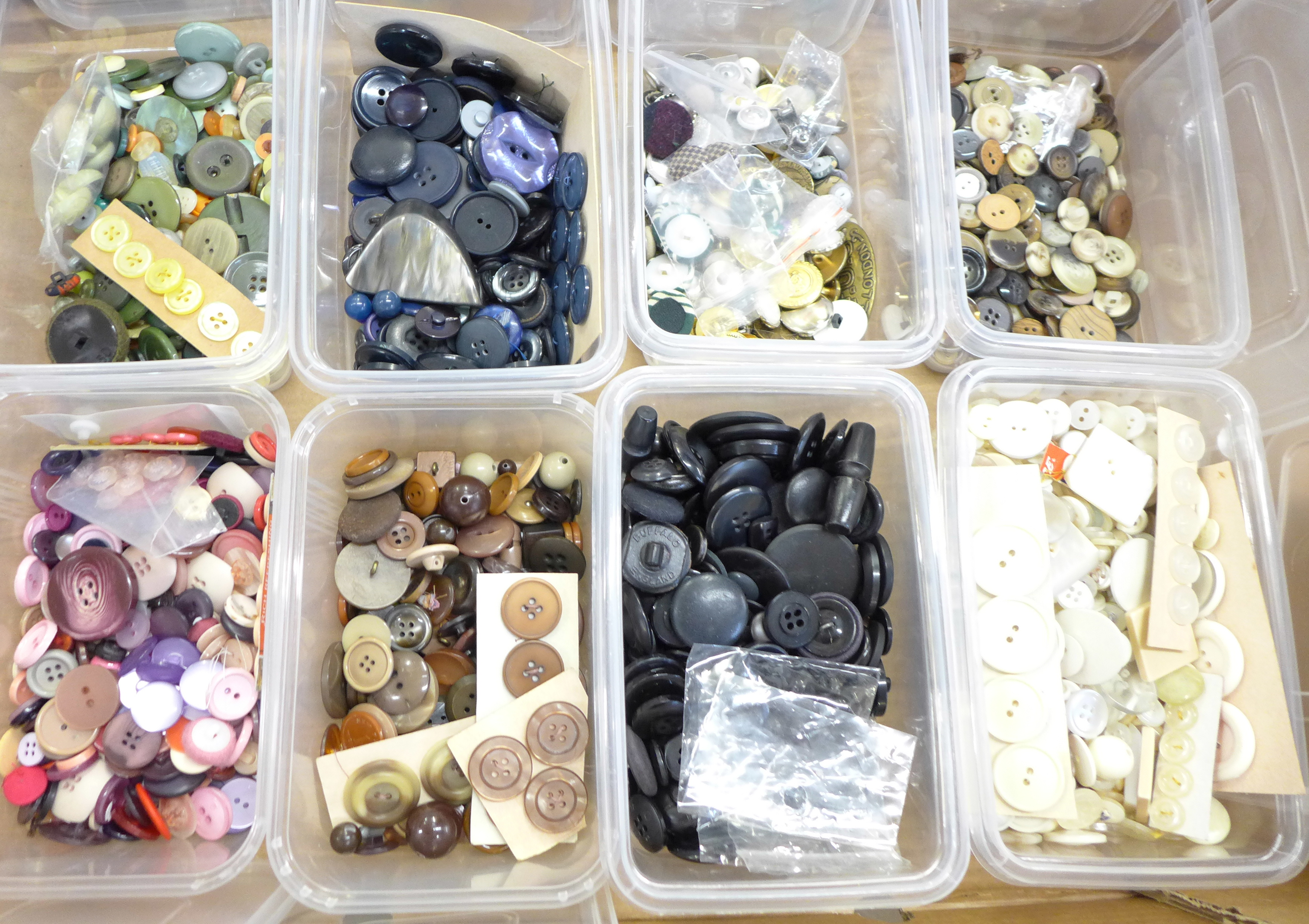 A large collection of vintage buttons, 1950's onwards